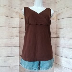 Eddie Bauer Sleeveless V Neck Top